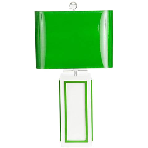 Couture Lagos White and Kelly Green Table Lamp