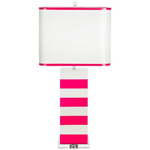 Couture Lindsay White and Fucshia Table Lamp