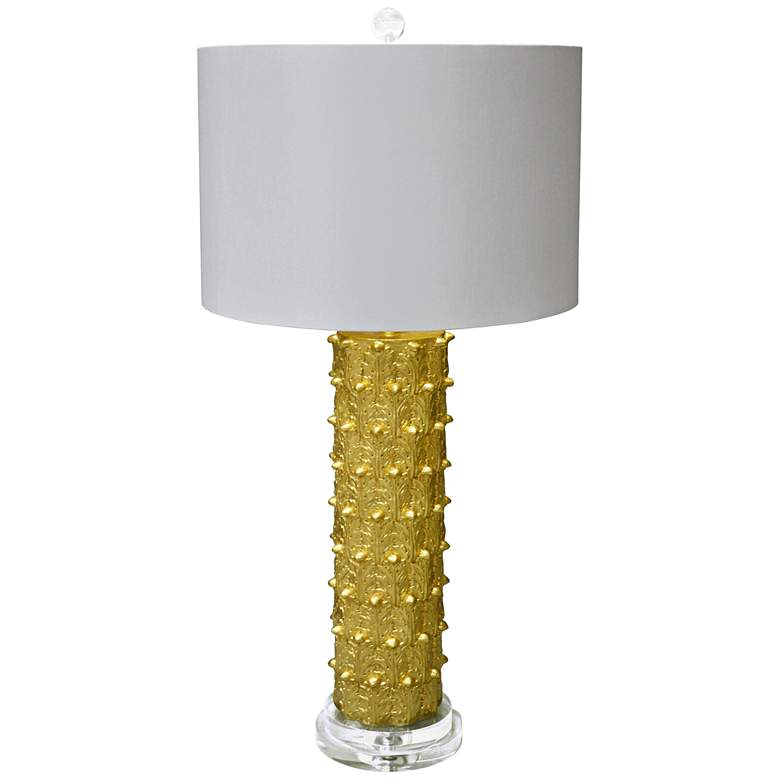 Couture Courtland Gold Leaf Table Lamp