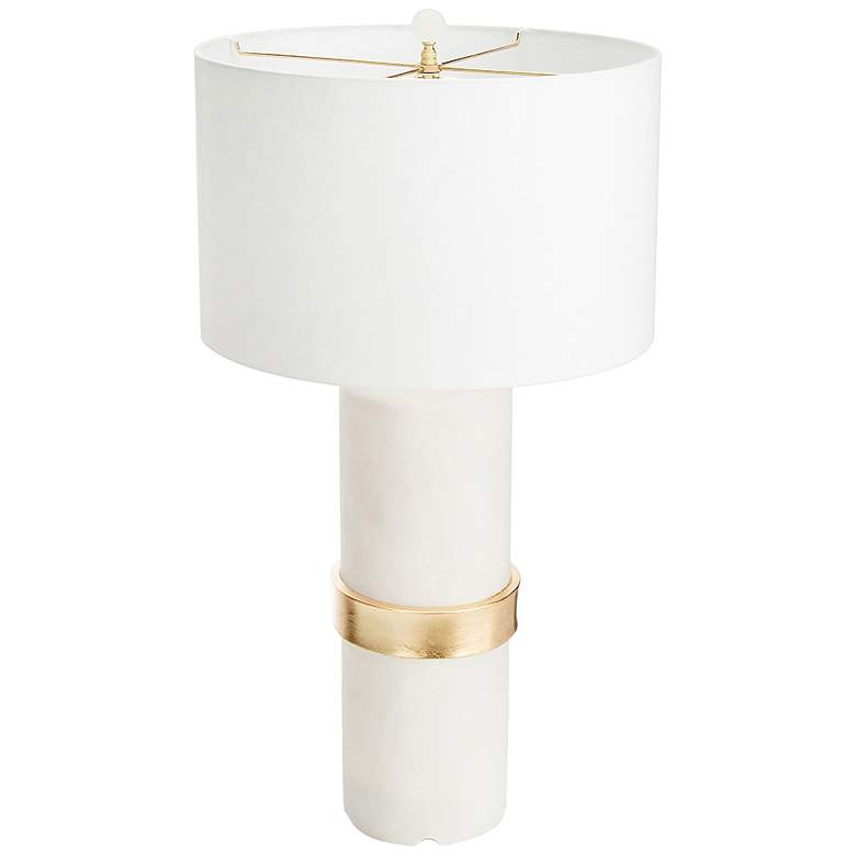 Couture Hermosa Frosted and Gold Leaf Table Lamp