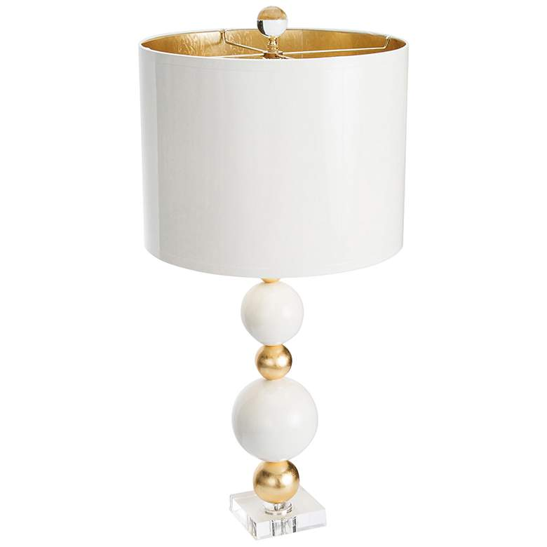 Couture Sheridan White and Gold Leaf Table Lamp