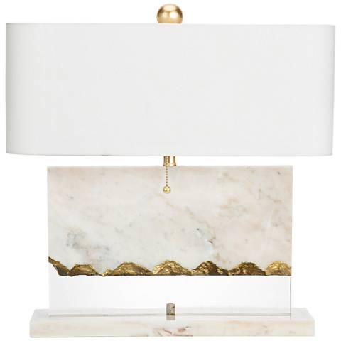 Couture Brentwood White Marble Accent Table Lamp