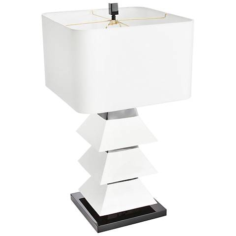Couture Erzi White and Black Table Lamp