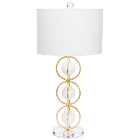 Couture Anderson Gold Leaf and White Table Lamp