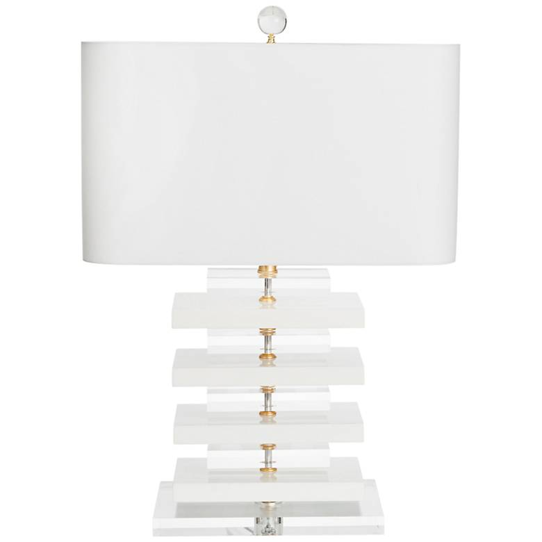Couture Devonshire High-Gloss White Table Lamp