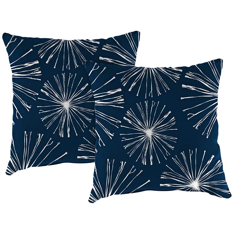 "Sparks Oxford 18"" Square Outdoor Toss Pillow Set"