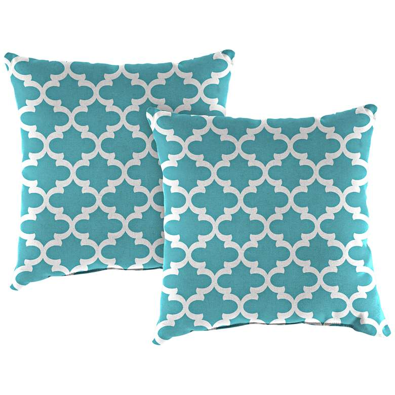 "Fulton Ocean 18"" Square Outdoor Toss Pillow Set of 2"