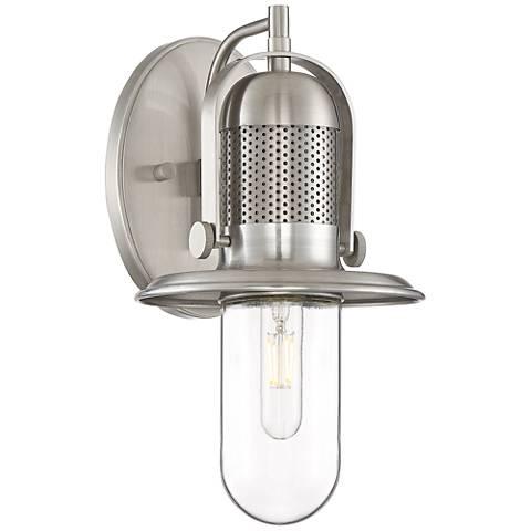 Possini Euro Design Eli Brushed Nickel Outdoor Wall Light