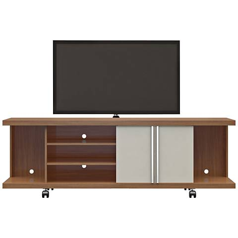 Carnegie Maple Cream and Off-White 2-Door TV Stand