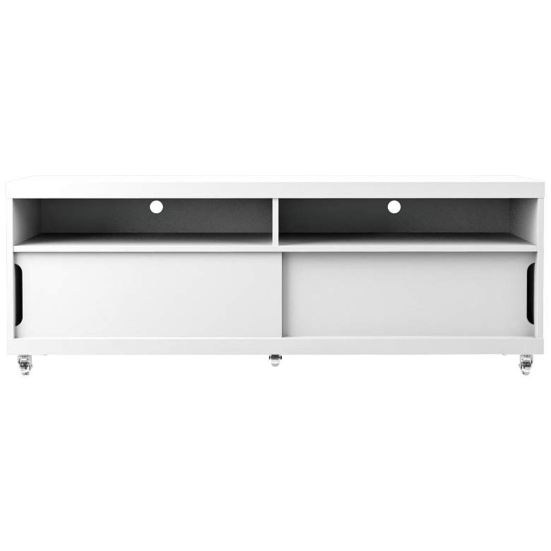 "Batavia 53 1/4"" Wide Off-White and Maple 2-Door TV Stand"