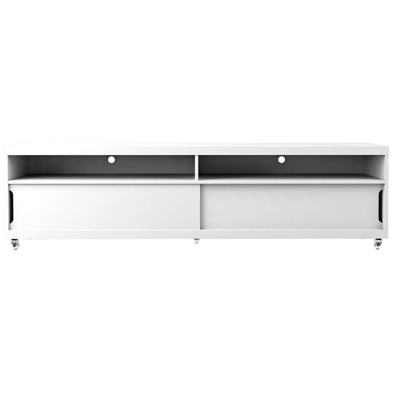 Batavia White Gloss Large 2-Door TV Stand