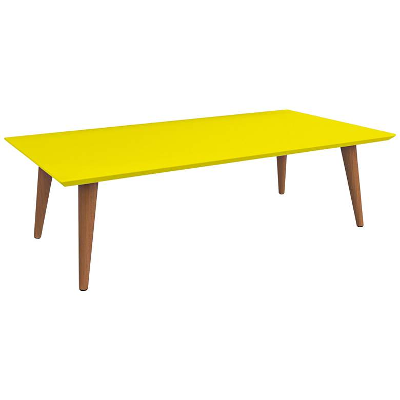 "Utopia 40 1/4"" Wide Yellow Rectangular Modern Coffee Table"