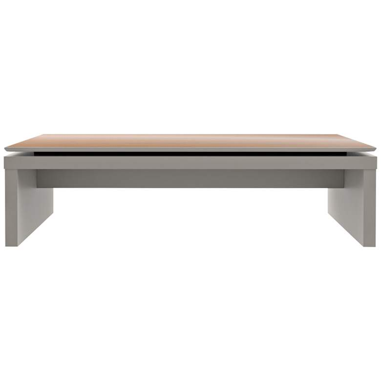"""Lincoln 47 1/4"""" Wide Off-White and Maple Cream Coffee Table"""
