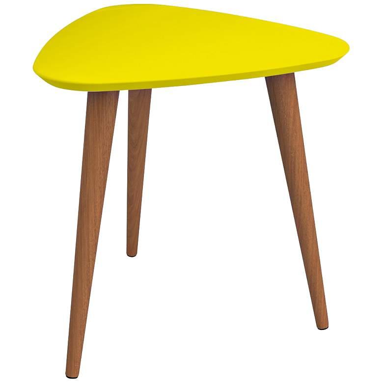 Utopia Yellow Triangular End Table