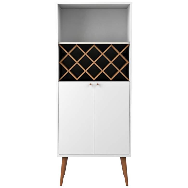 "Utopia 26 1/4"" Wide White Gloss-Maple Modern China Cabinet"