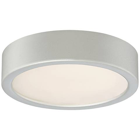 "George Kovacs Puzo 6"" Wide Silver LED Ceiling Light"