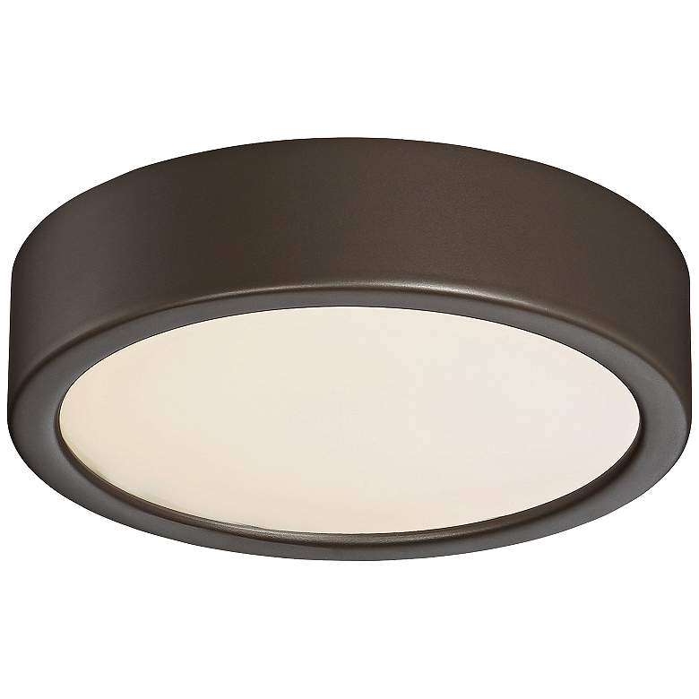 """George Kovacs Puzo 6"""" Wide Copper Bronze LED Ceiling Light"""