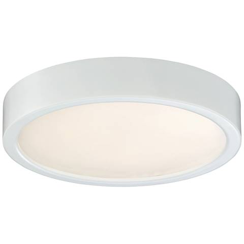 "George Kovacs Puzo 8"" Wide White LED Ceiling Light"