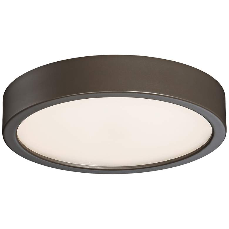 "George Kovacs Puzo 8"" Wide Copper Bronze LED Ceiling Light"