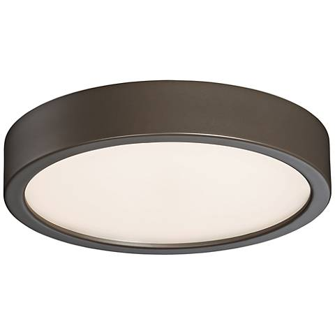 """George Kovacs Puzo 8"""" Wide Copper Bronze LED Ceiling Light"""