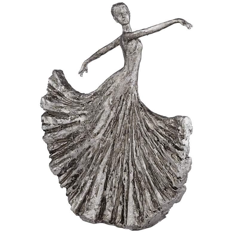"""Dancing Girl 13"""" High Cast Iron Finish Sculpture"""