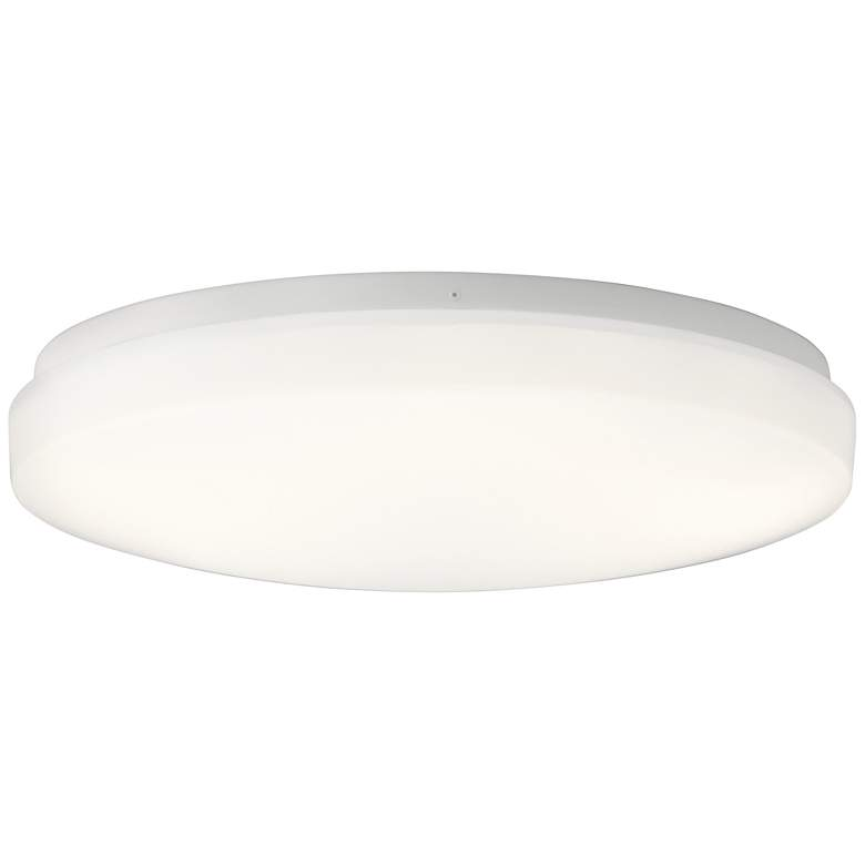 """Kichler Ceiling Space 16"""" Wide White LED Ceiling Light"""