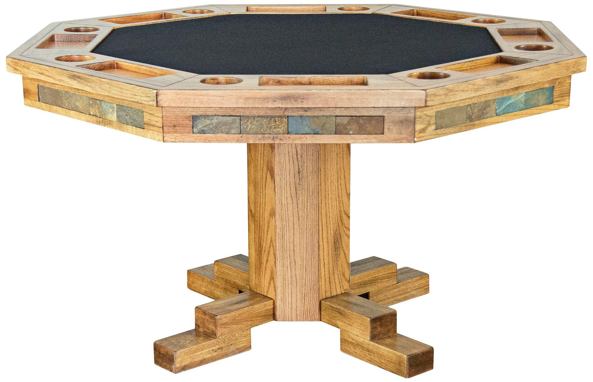 Sedona Rustic Oak Wood Game Table