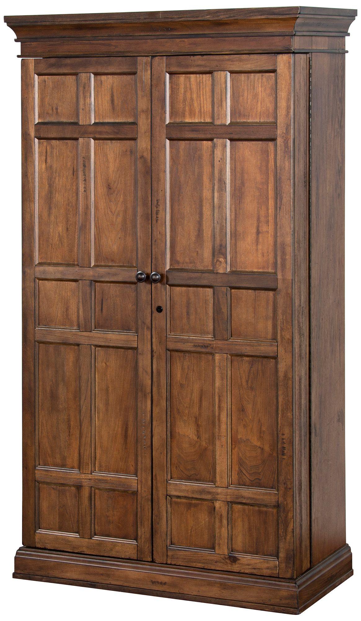 Savannah Antique Charcoal Wood 2 Door Bar Armoire