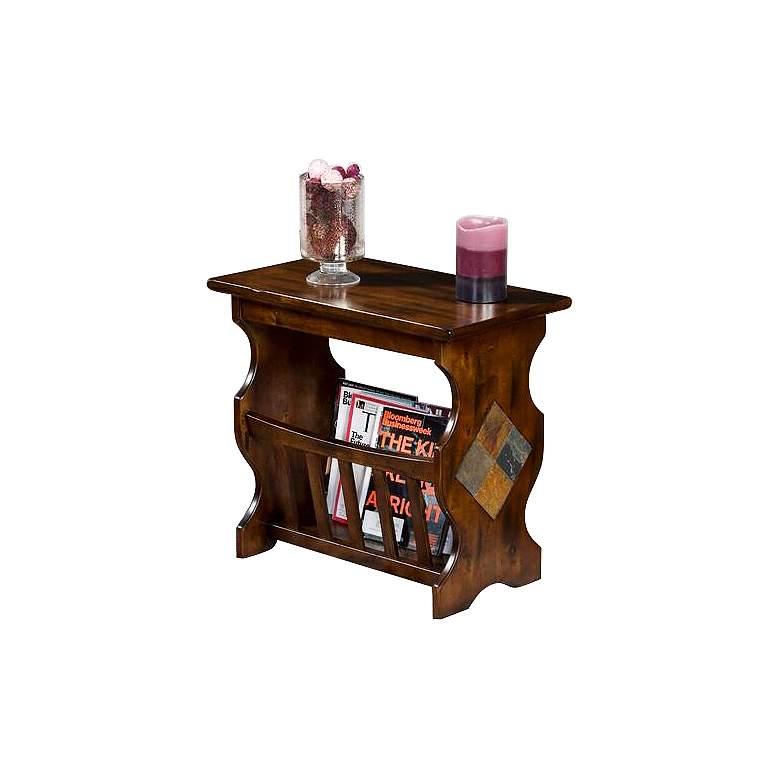"Santa Fe 25"" Wide Dark Chocolate Wood Magazine Table"