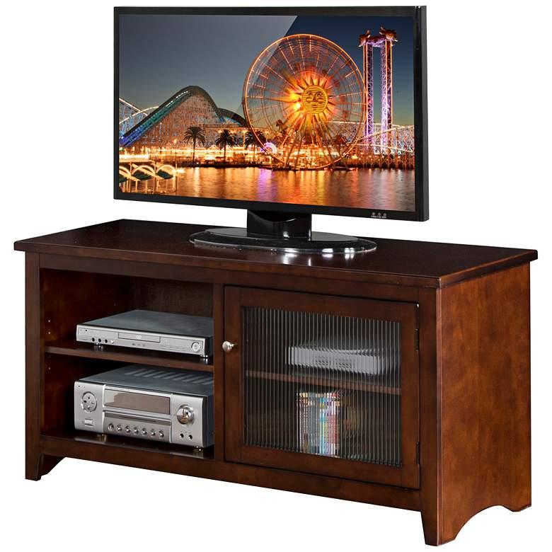 """Cambridge 52"""" Wide Cappuccino Wood 1-Door TV Console"""