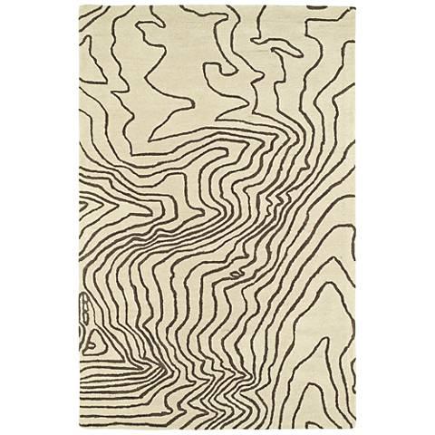 Kaleen Pastiche PAS02-49 Brown Wool Area Rug