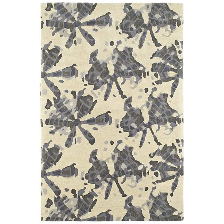 "Kaleen Pastiche PAS03-75 5'x7'9"" Gray Wool Area Rug"