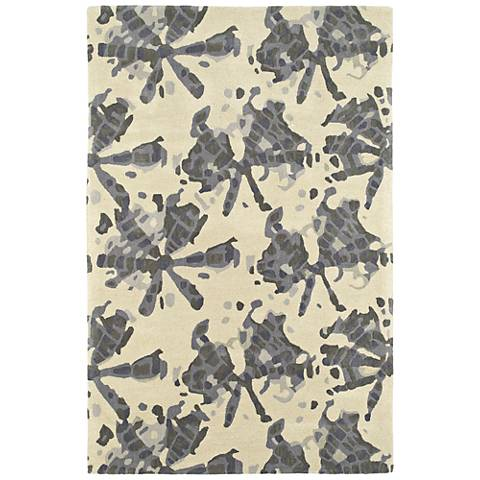 Kaleen Pastiche PAS03-75 Gray Wool Area Rug