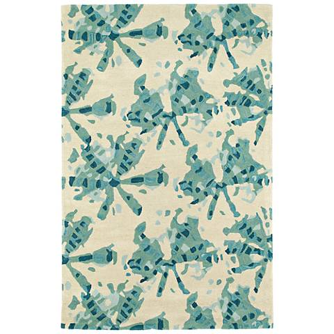 Kaleen Pastiche PAS03-78 Turquoise Wool Area Rug