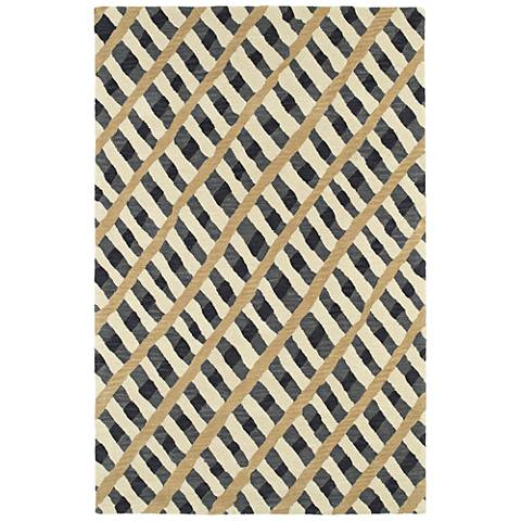 Kaleen Pastiche PAS04-75 Gray Wool Area Rug