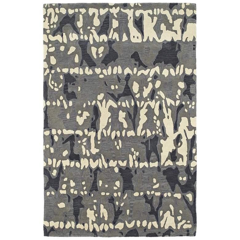 "Kaleen Pastiche PAS05-75 5'x7'9"" Gray Wool Area Rug"