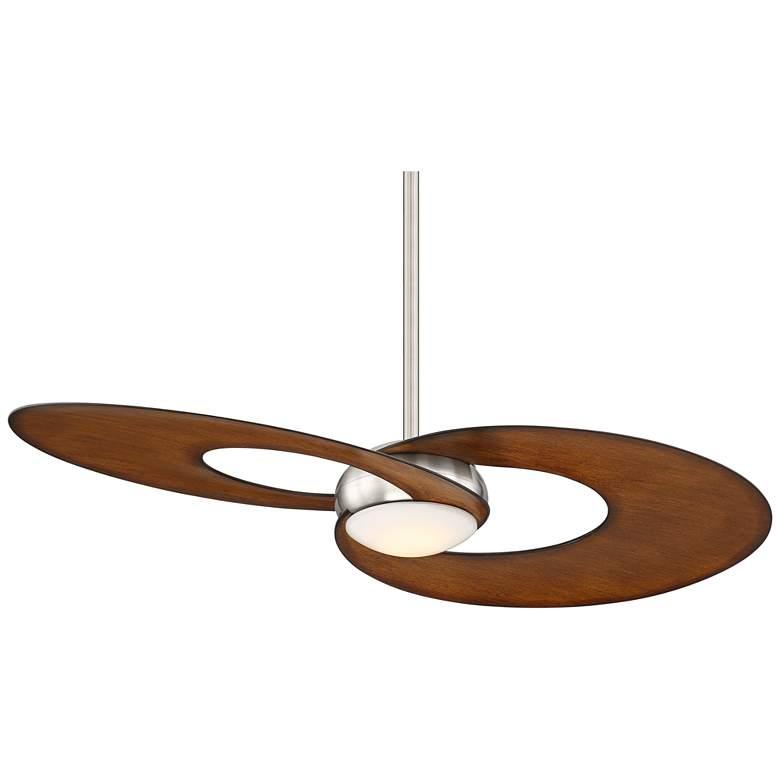 "52"" Possini Innovation Brushed Nickel Koa LED Ceiling Fan"