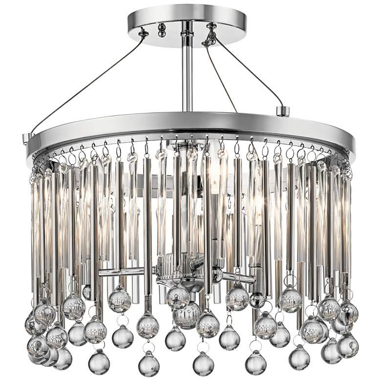 """Kichler Piper 15"""" Wide Chrome 3-Light Ceiling Light"""
