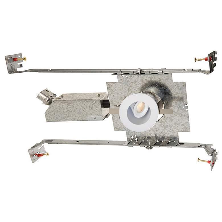 "LEDme 1"" Round White Mini Adjustable Complete Recessed Kit"