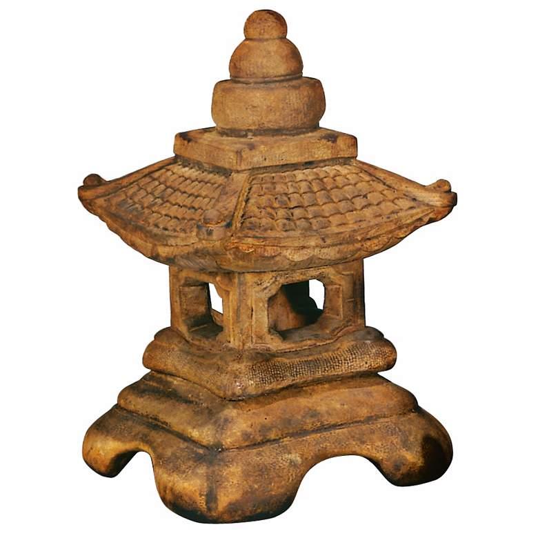 "Medium Great Roof Lantern 23"" High Pagoda Garden Accent"