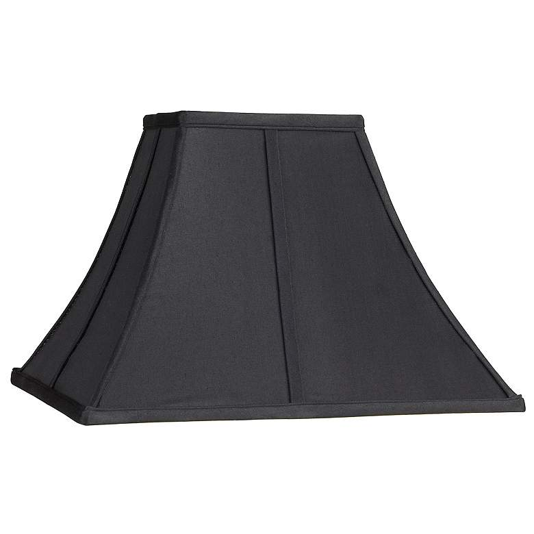 Square Curved Black Lamp Shade 6x14x9 1/2 (Spider)