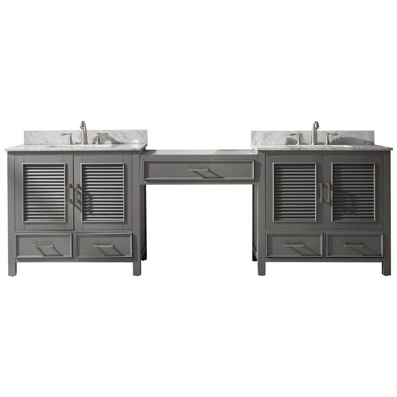"Estate 102""W Gray Double Sink Bathroom Vanity Modular Set"
