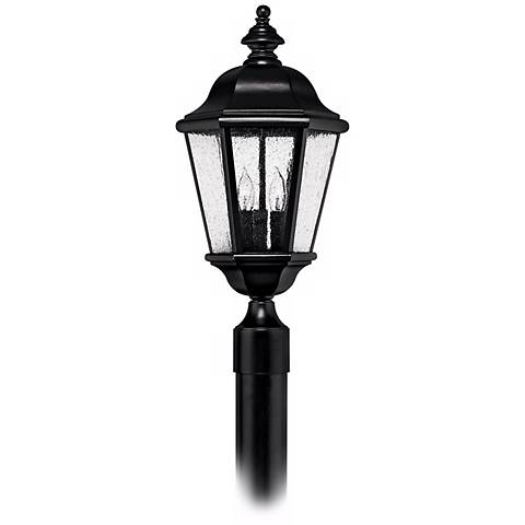 "Hinkley Edgewater Black 20 1/2"" High Outdoor Post Light"
