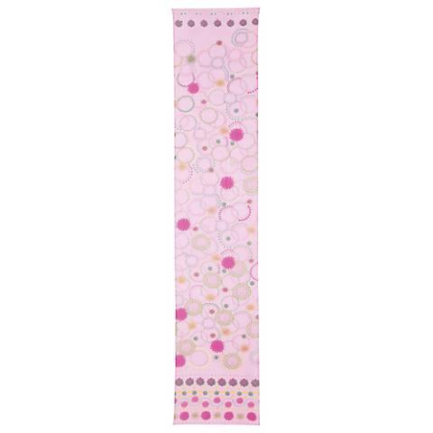 Pink Silk Contemporary Circles Lamp Shade Scarf 13x70