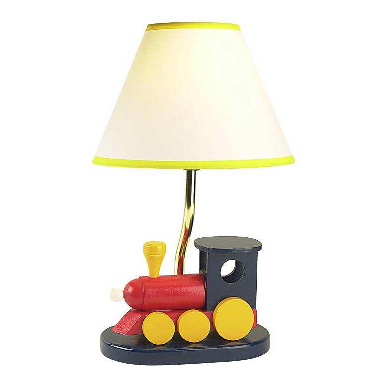 """Children's Wooden Train 15""""H Accent Table Lamp"""