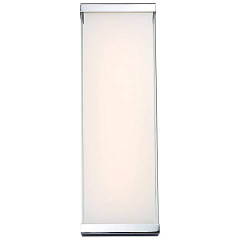 "dweLED Float 18"" High Chrome LED Wall Sconce"
