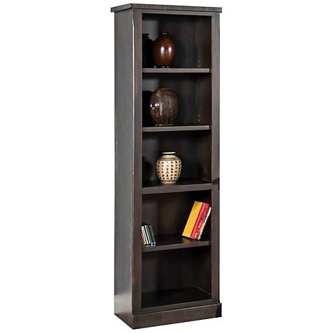 Madras Charred Oak Wood 4-Shelf Pier
