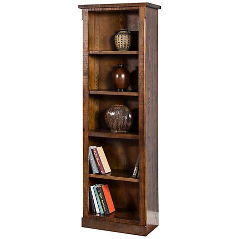 Santa Fe Dark Chocolate Wood 4-Shelf Pier