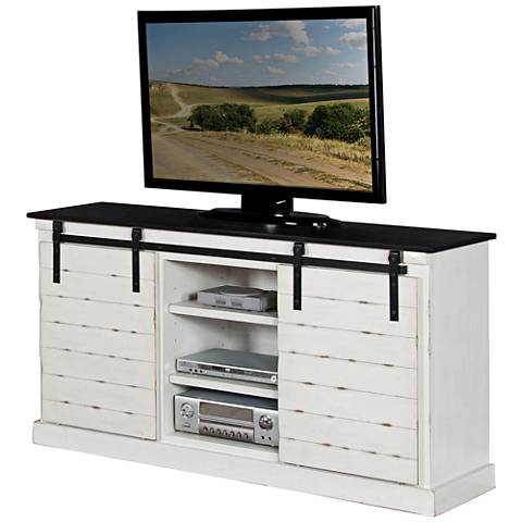 Bourbon French Country Wood 2-Door TV Console