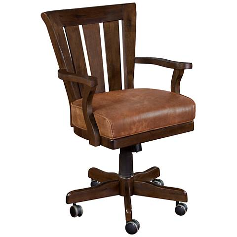 Santa Fe Dark Chocolate Wood Adjustable Game Chair